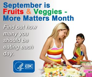 September is fruits and veggies - more matters month find out how many you should be eating daily