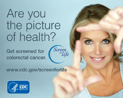 Are you a picture of health get screened for colorectal cancer