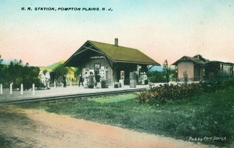 Watercolor pompton plains railroad station